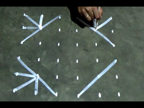 Easy Rangoli With 6x6 dots/Easy Kolam designs with dots