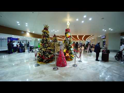 Philippines, Manila International Airport, Terminal 1, walk from Baggage claim to bus outside