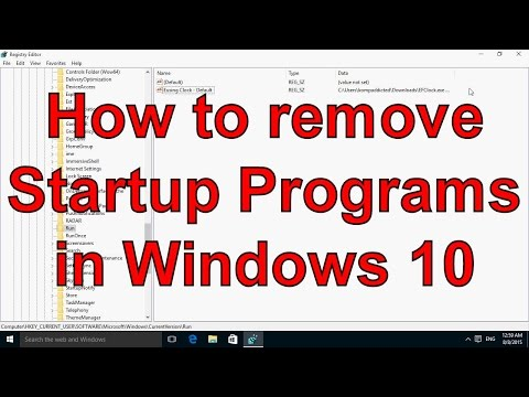 How to remove Startup Programs in Windows 10