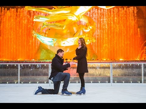 Surprise Marriage Proposal at the Rockefeller Center Ice Skating Rink