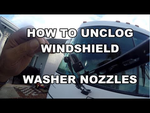 HOW TO UNCLOG RV WINDSHIELD WASHER NOZZLE | ADJUST SPRAY