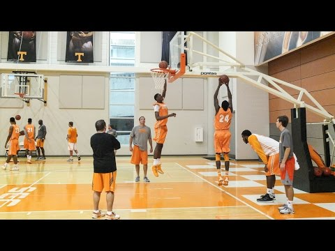 Tennessee Basketball Practice 10-6-14