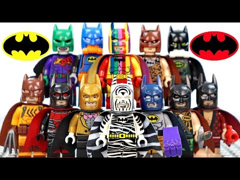 12 LEGO Batman Batsuit Variants Unofficial Minifigures
