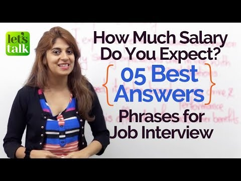 5 Best Answers for Job Interview Questions - How much salary do you expect? - English Lesson