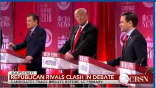 Trump vs Cruz  Trump gets red angry! CRUZ: Biggest liar ever!