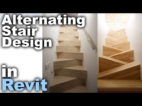 Alternating Stair Design in Revit Tutorial