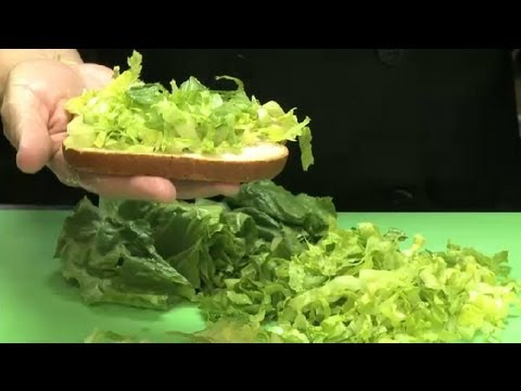 How to Cut Romaine Lettuce for Sandwiches : Chicken Salads & Sandwiches