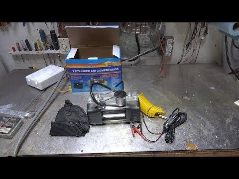 A test of the Audew 12 volt 2 cylinder tire pump.