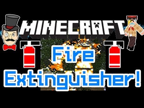 Minecraft Mods - FIRE EXTINGUISHER! Put Out Bush Fires, Keep One in your House!