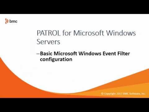 PATROL for Microsoft Windows Servers: Configuring Windows Event Log filters