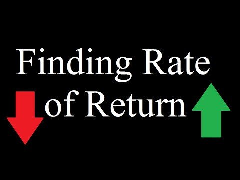 Find Rate of Return for a Stock using Excel