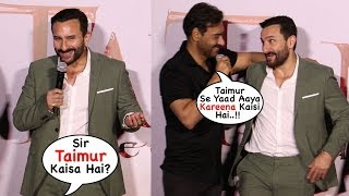 Ajay NAILED It | Ajay Devgn's Back To Back Funny Moments 😂😂😂 With Saif At Tanhaji Trailer Launch