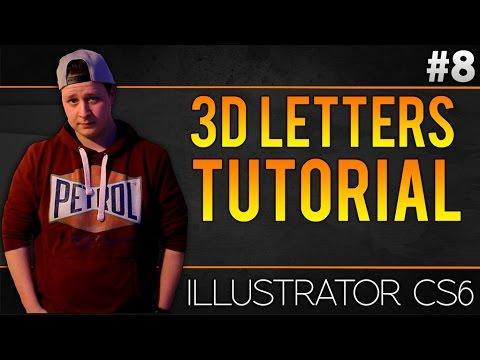 How To Make 3D Letters In Adobe Illustrator CS6 - Tutorial #8