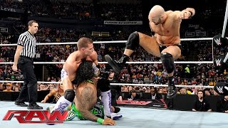 The Usos vs. Cesaro & Tyson Kidd – WWE Tag Team Championship Match: Raw, February 23, 2015