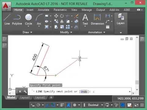 AutoCAD. Draw at any angle