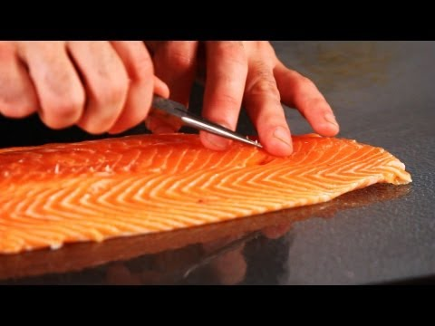How to Remove Pin Bones from Salmon | Fish Filleting