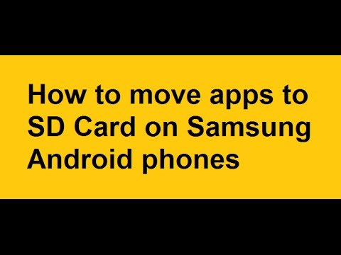 Move Apps to SD Card Android Samsung S7 S6 S5 S4 S3 S2