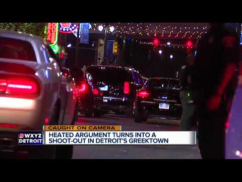 Heated argument turns into a shootout in Detroit's Greektown