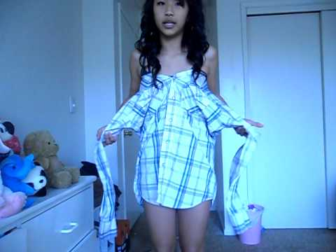 How to: Make a collared shirt into a dress (: