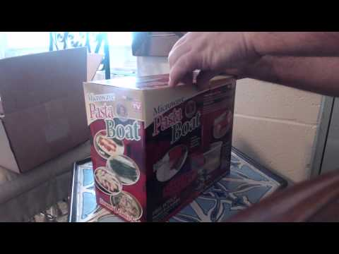 Pasta Boat Unboxing 2014 As seen on TV - Microwave Pasta Cooker