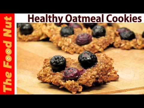 Healthy Oatmeal Banana Cookie Recipe - Gluten & Dairy Free Chewy Vegan Cookies Recipe | The Food Nut