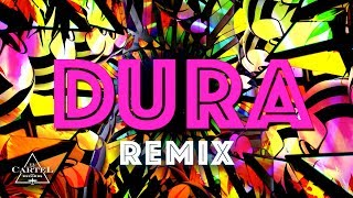 Daddy Yankee - Dura (REMIX) ft. Bad Bunny Natti Natasha & Becky G (Lyric Video)