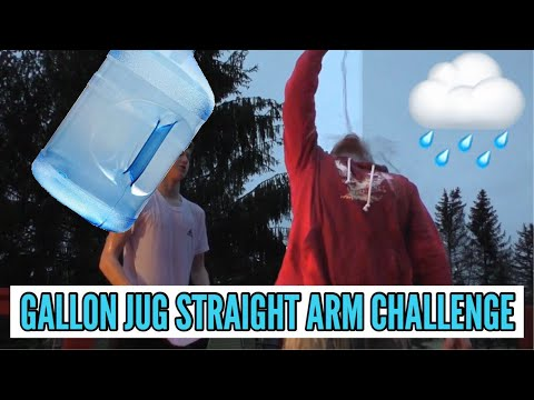 ULTIMATE STRAIGHT ARM WATER CHALLENGE (GALLON JUG!)