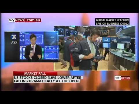 Market Fall - Sky News Business Live from ASX with Sky News Reporter Carrington Clarke