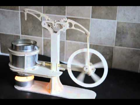 STIRLING AIR ENGINE KIT-Available on eBay It's easy to Build Your own from this kit!
