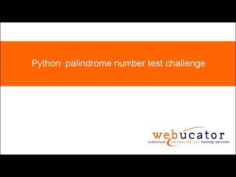 Python: palindrome number test challenge