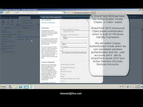 Create SharePoint Server 2010  Web Application using Central Administration and PowerShell