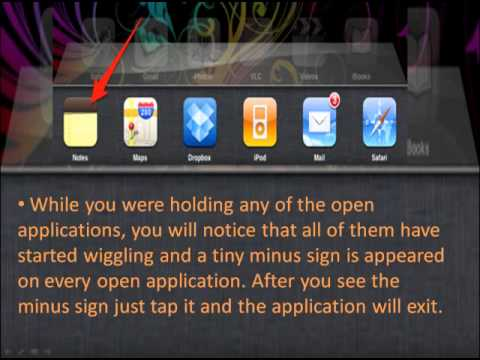 How to close Open Apps on iPad