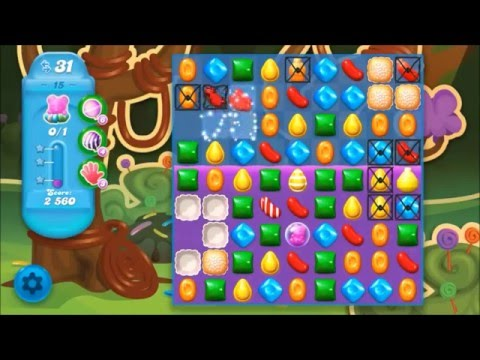 Candy Crush Soda Level 15 *Get the bear above the candy string*