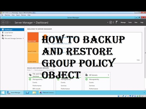 20. how to backup and restore Group Policy Object