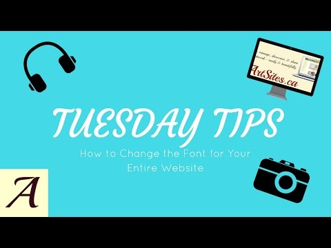 TUESDAY TIP: HOW TO CHANGE THE FONT OF YOUR ENTIRE WEBSITE