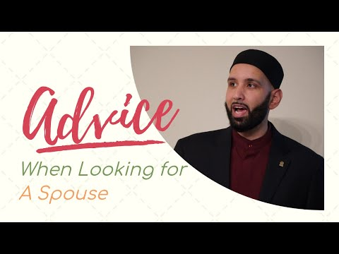 Key advice when looking for spouse in islam (getting married) (7mins) Omar Suleiman *EPIC*