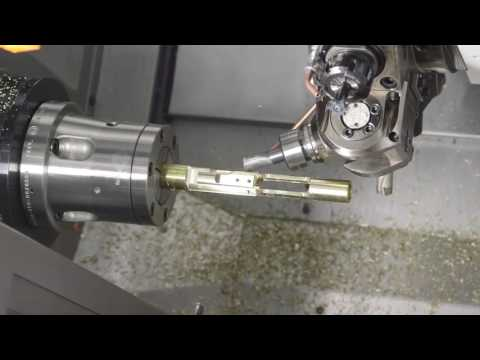 Eurotech B446SY2 CNC Lathe AR 15 carrier in One Operation