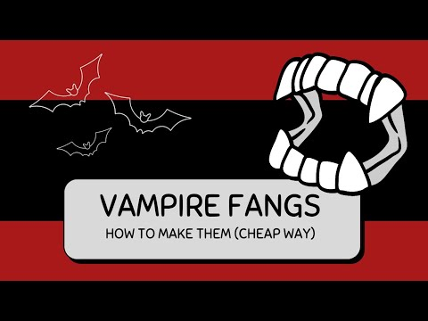 How to make semi-realistic vampire fangs (the cheap way)