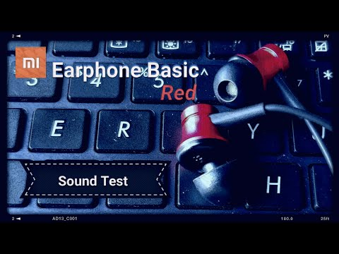 Mi Earphone Basic {RED} (Real life) Sound Test