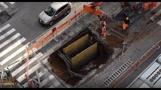 Italy: Huge sinkhole opens in Rome street