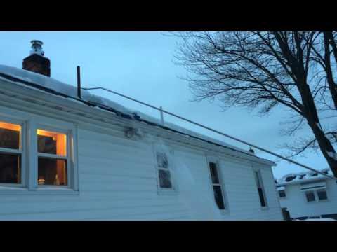 Snow slide roof rake