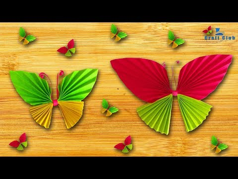 ✿ How to make beautiful butterfly with color paper ✿ Lina's Craft Club