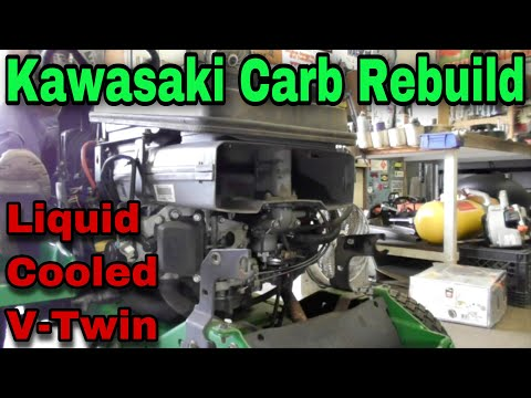 How To Rebuild The Carburetor On A Kawasaki Liquid Cooled V-Twin OHV FD611V Engine With Taryl