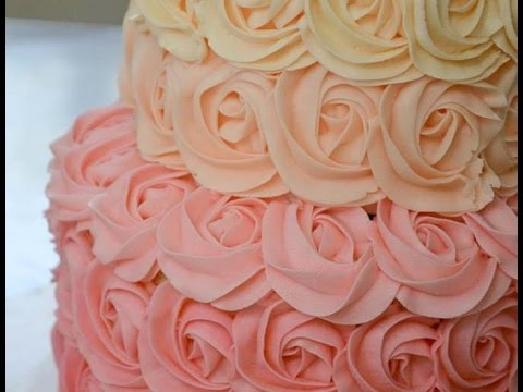 How To Make Easy Buttercream Rosettes : Cake Decorating For Beginners