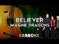 Imagines Dragons - Believer (Acoustic Guitar Karaoke/Instrumental/Lyrics)