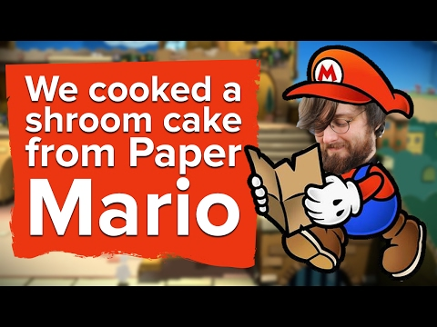 We cooked a Shroom Cake from Paper Mario