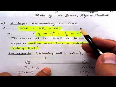 Work = Change in Kinetic Energy and proof   1112011