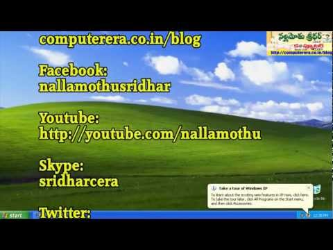Windows Tip : How to Reset Windows 7, Vista, XP Administrator password Full HD Nallamothu telugu