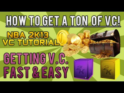 NBA 2K13 Tutorial - How To Get A TON of VC! | Getting VC FAST & EASY! | 9,000 VC Every Hour!
