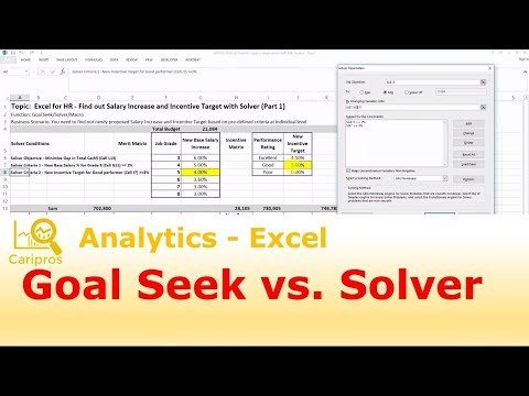 Goal Seek vs  Solver